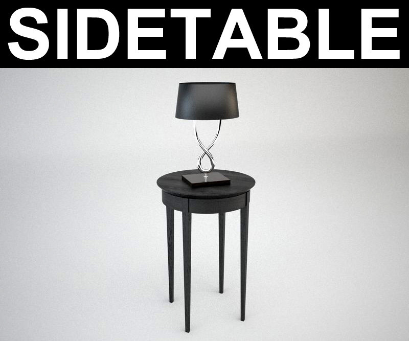3d contemporary sidetable lamp model
