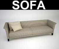 contemporary sofa 3d max