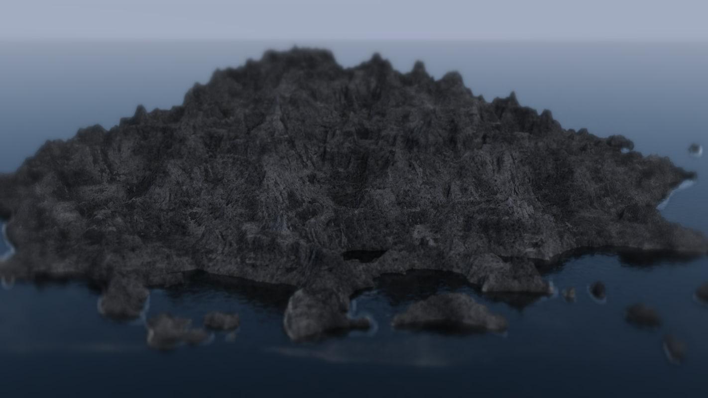 c4d island