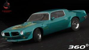 3d pontiac firebird trans 1973 model