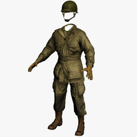 3d paratrooper clothing soldier ww2