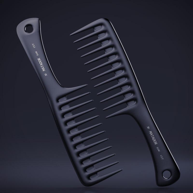 obj shampoo comb