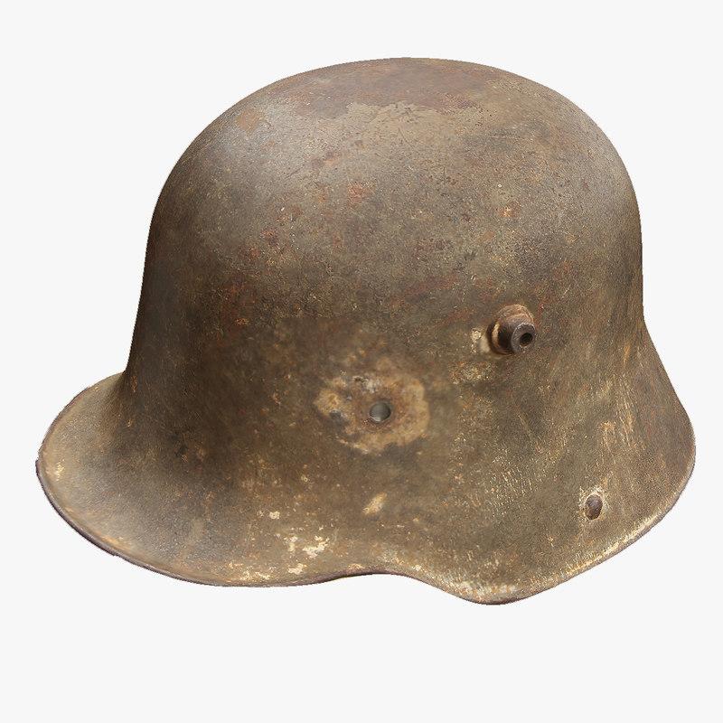 3d ww1 german helmet model