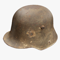 3d ww1 german helmet model