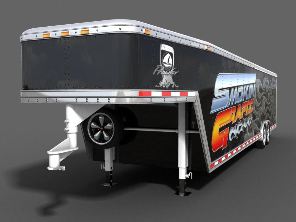 3d gooseneck trailer