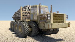 heavy logging vehicle 3d model