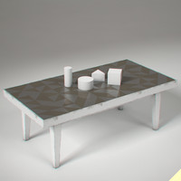 3d triangle table model