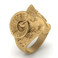3d obj ring men aries