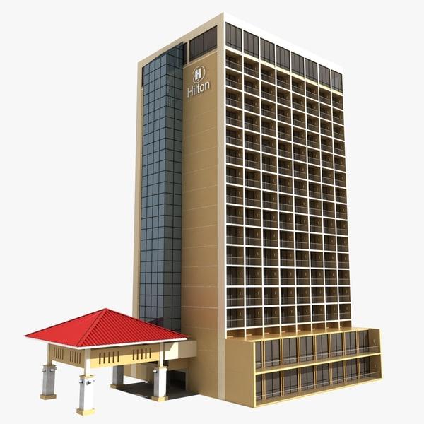 hotel building 3d model
