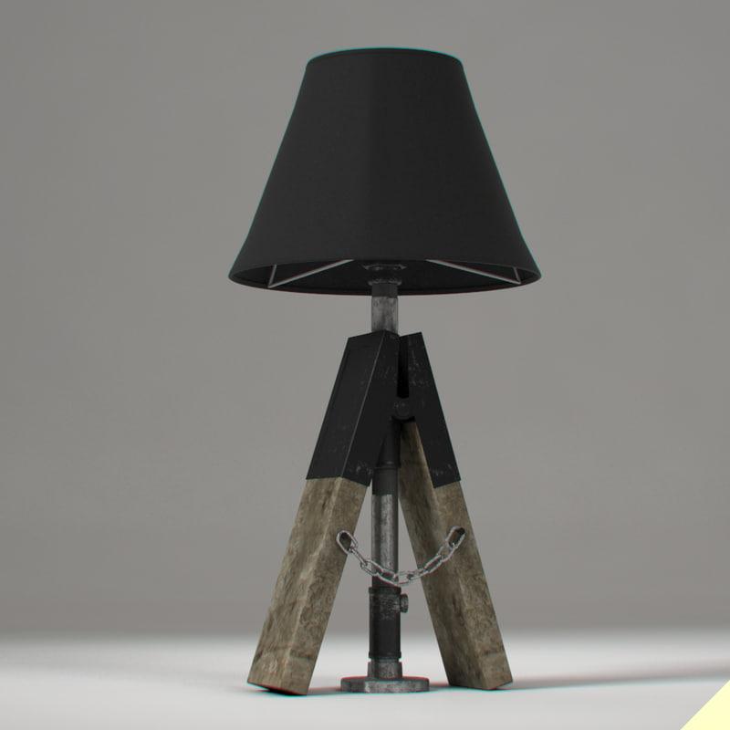 3d lamp junk loft model
