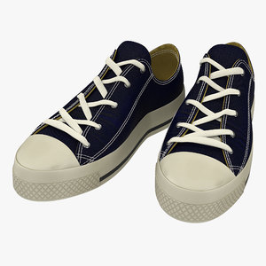sneakers blue modeled 3d model