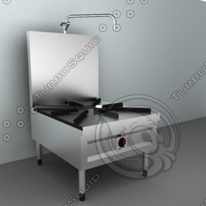 3d model gas stock pot