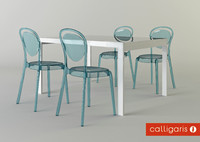 max calligaris chair parisien table