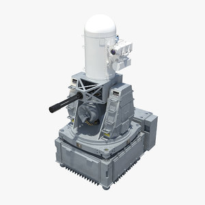 phalanx ciws block-1b gun 3d model