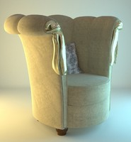 3d model wool woolen armchair