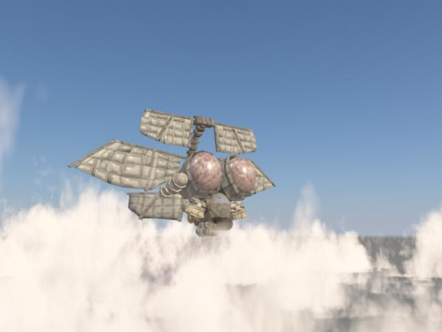 cinema4d steampunk airship
