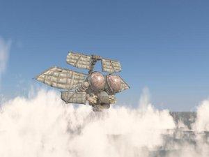 cinema4d steampunk airship