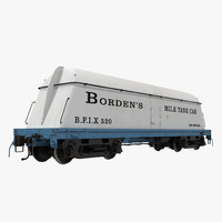 3d bordens milk tank car