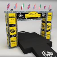 wrc podium 3d model