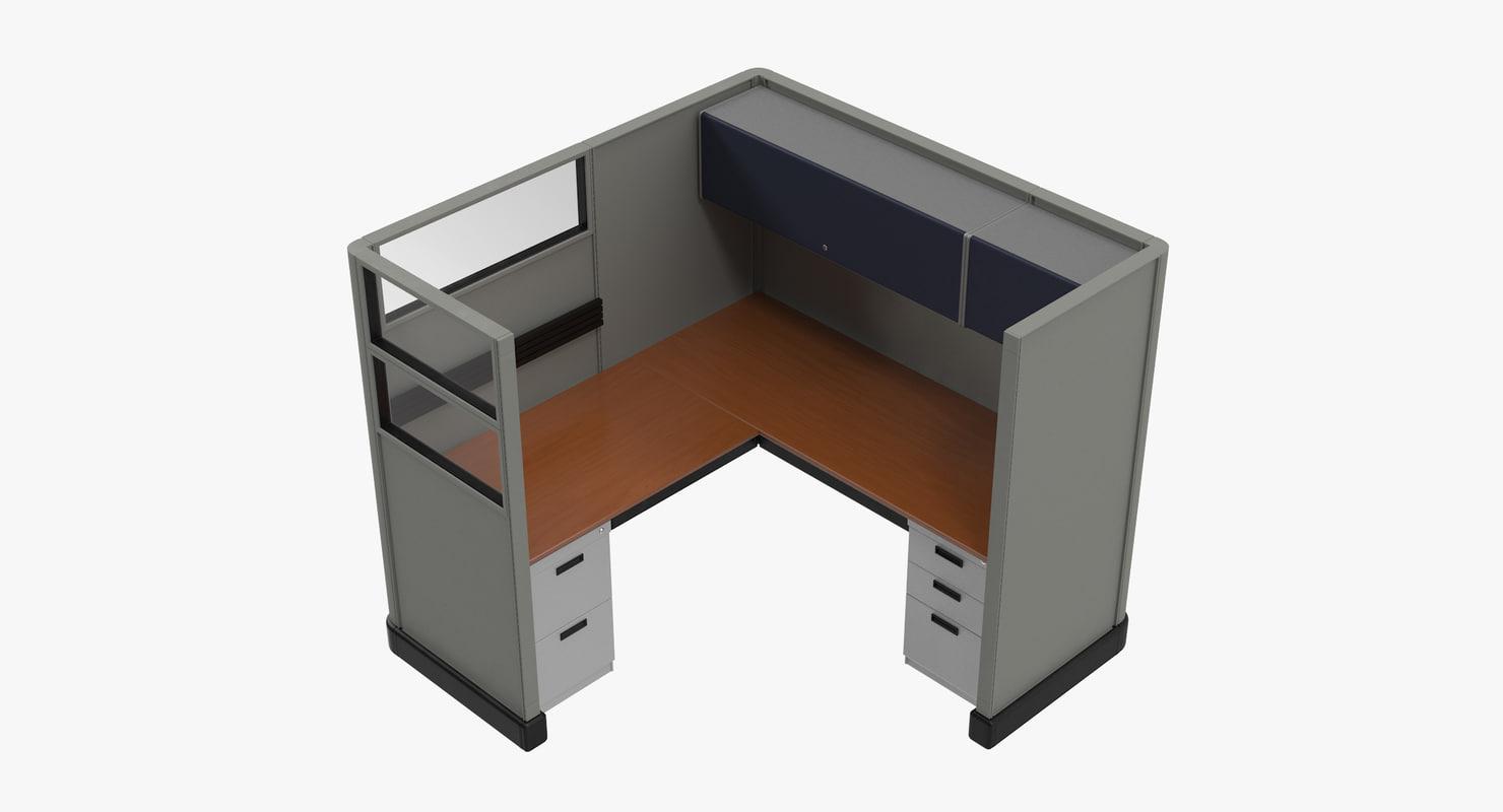 cubicle work 3d model