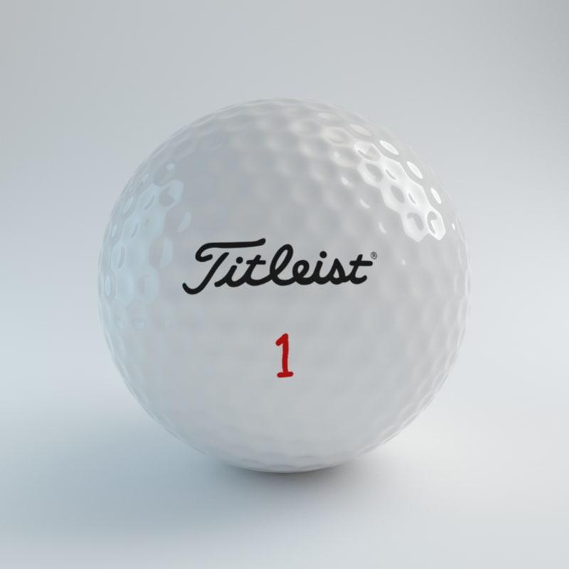 blender golfball titleist 3d model