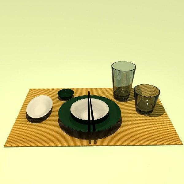 3d japanese set
