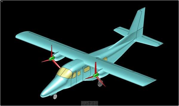 vulcanair aviator solid assembly 3d model