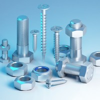 3d screw bolt nut