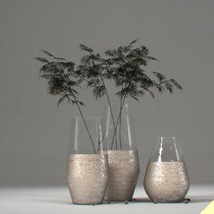 3d vase branches model