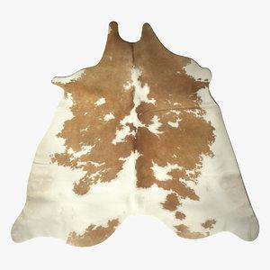 3d model of cow carpet 4