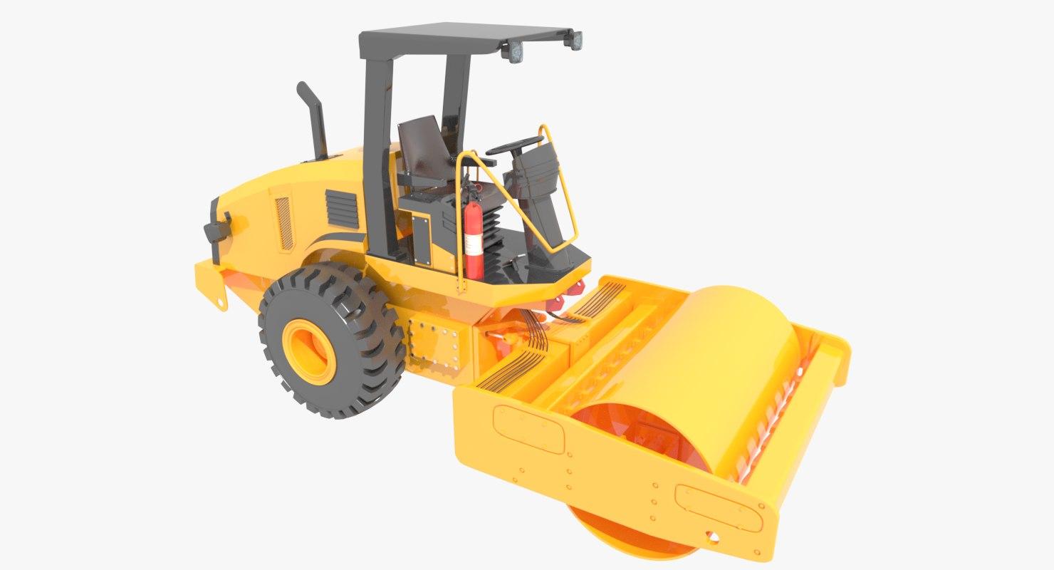 3ds max road roller compactor asphalt
