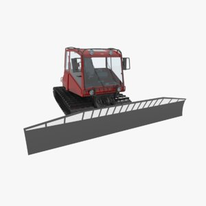 3d model of snowcat tracked vehicle snow