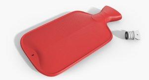 hot water bottle 3d max