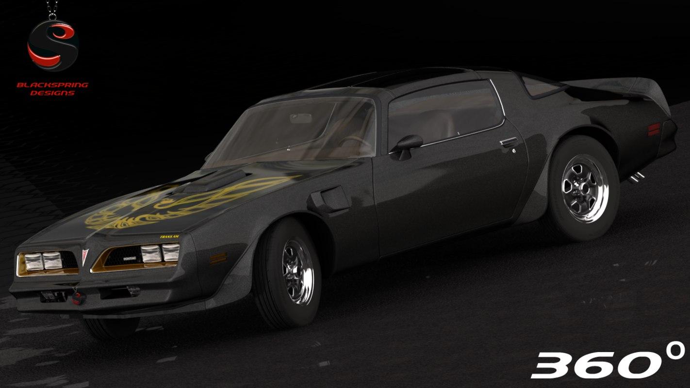 3d pontiac firebird trans 1977