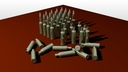 7.62x25 cartridge 3D models