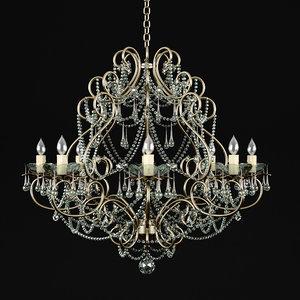 3d chandelier classic model