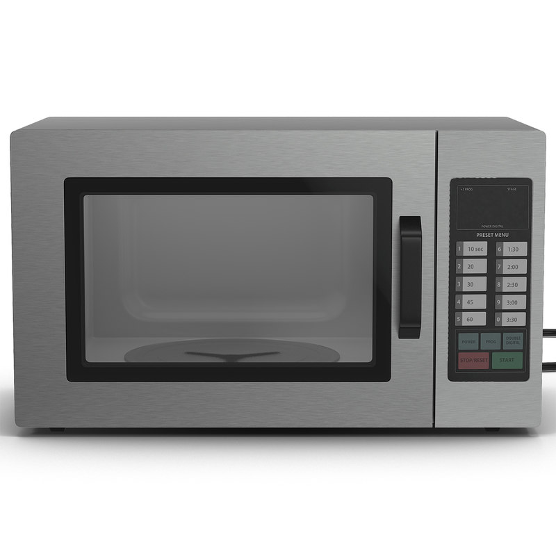 microwave oven 2 generic 3d model