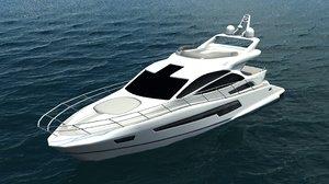 yacht sport port 3d model