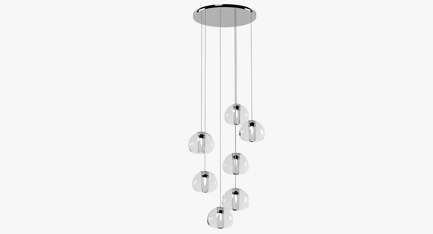 3d model terzani mezu lamp light