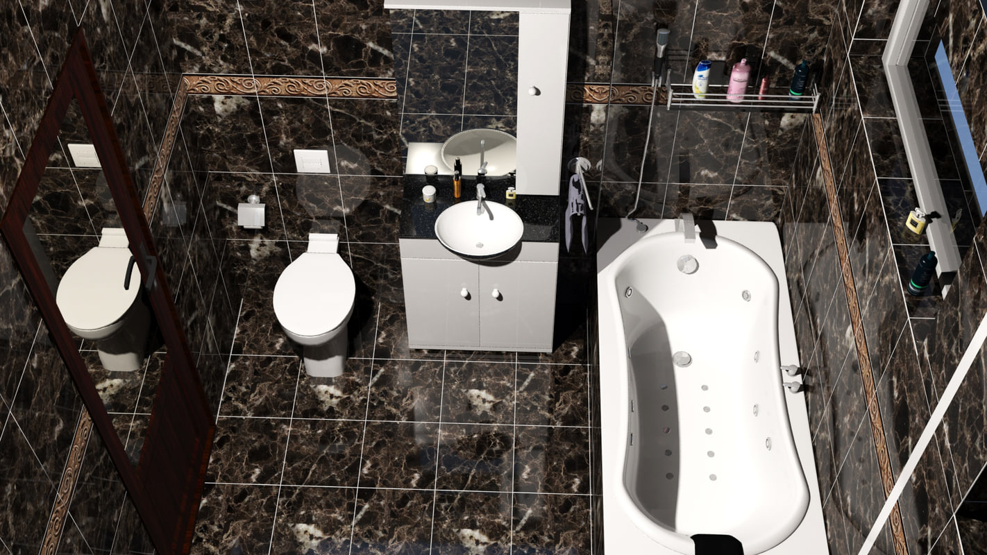 3d wc bathroom sink