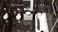 3d wc bathroom sink