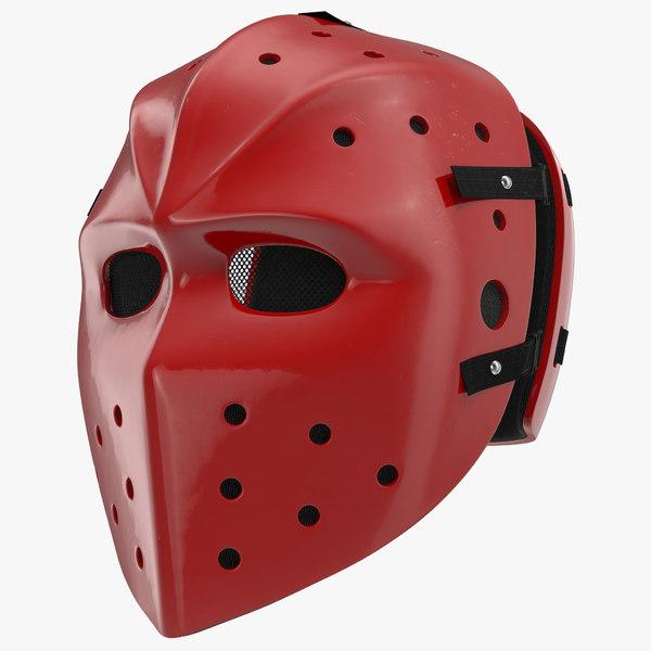 hockey mask 3d c4d