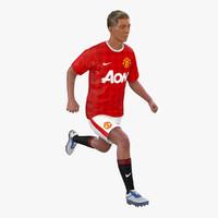 soccer player manchester united 3d model