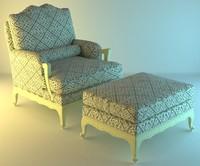 armchair rest 3d obj