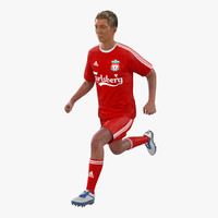 3d soccer player liverpool rigged model