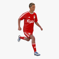 3d soccer player liverpool rigged