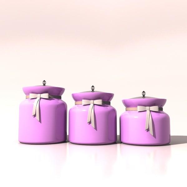 colorful jar 3d max