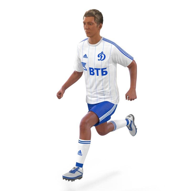 soccer player dynamo rigged 3d model