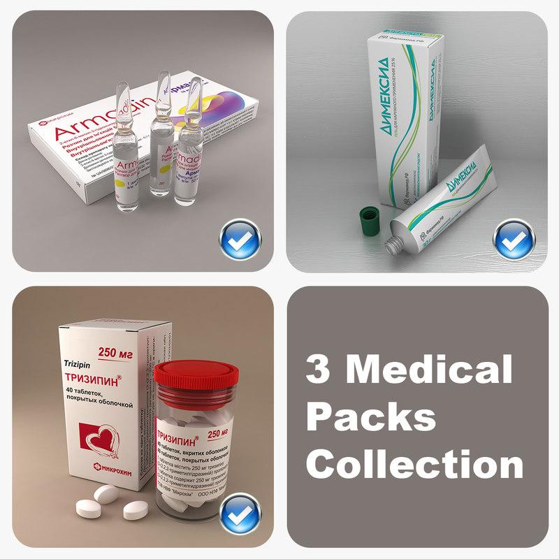 3ds max 3 medical packs
