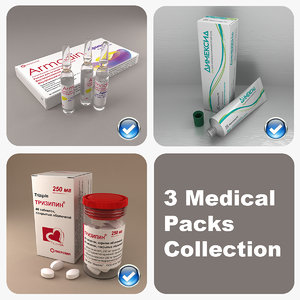 3ds max 3 medical packs